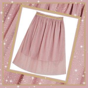 FABKIDS Girl Pink Shimmer Tulle Skirt Pink Sparkle